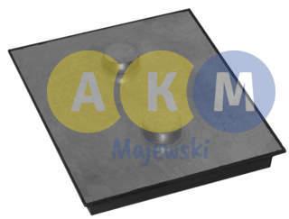 rubber-metal pressure disks for leaf springs; rectangular