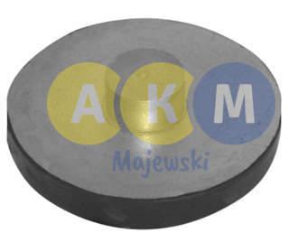 rubber-metal pressure disks for leaf springs;