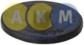 Rubber pressure disk for leaf springs