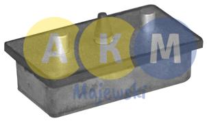rubber-metal pressure disks for leaf springs